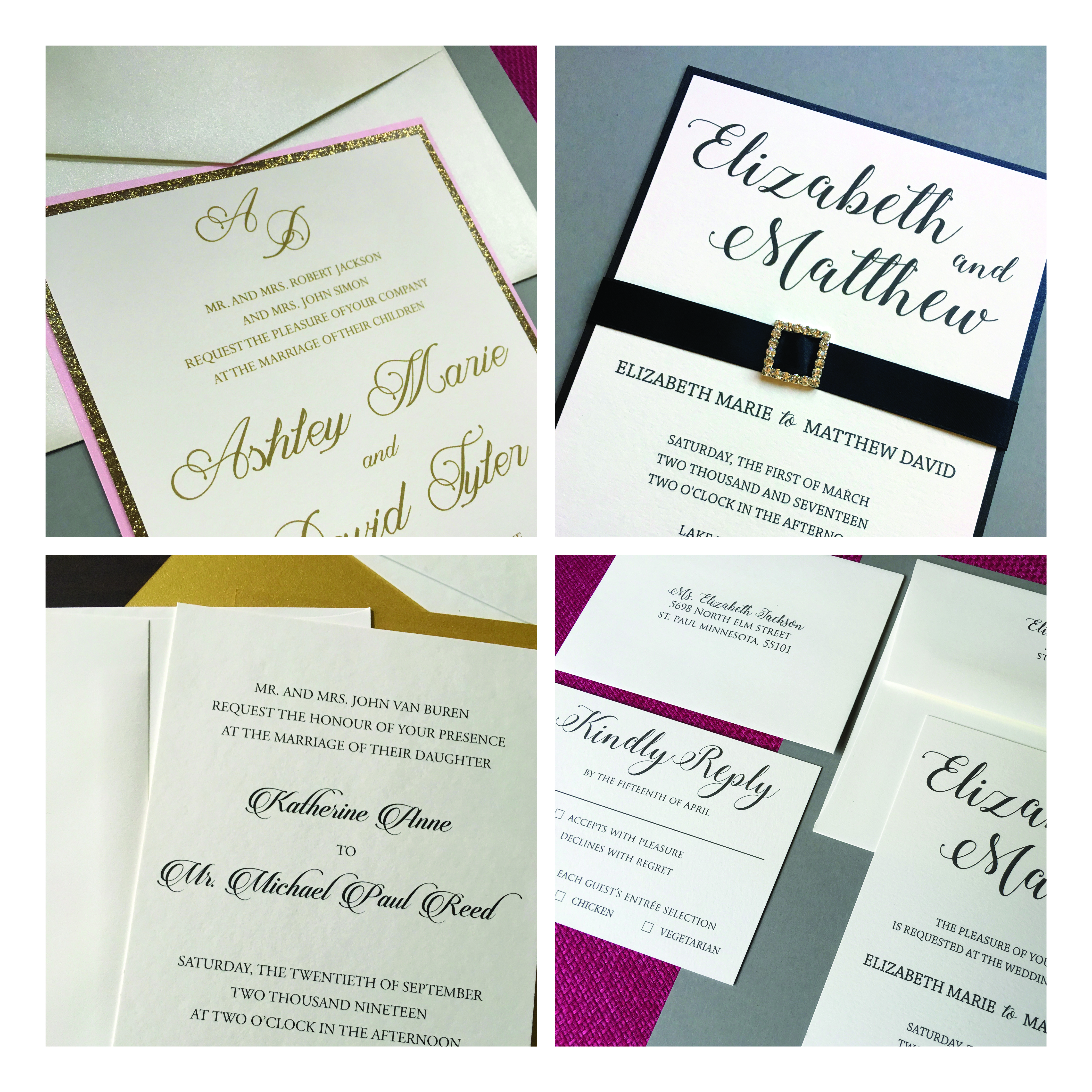 Wedding invitations Lafayette Papers