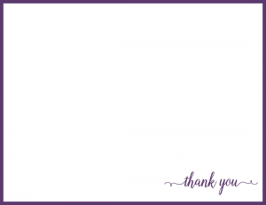 Thank you flat note card
