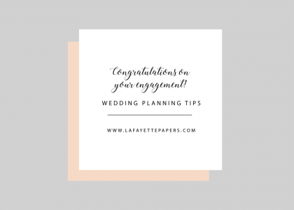 Wedding Planning - 2520 Lafayette Papers