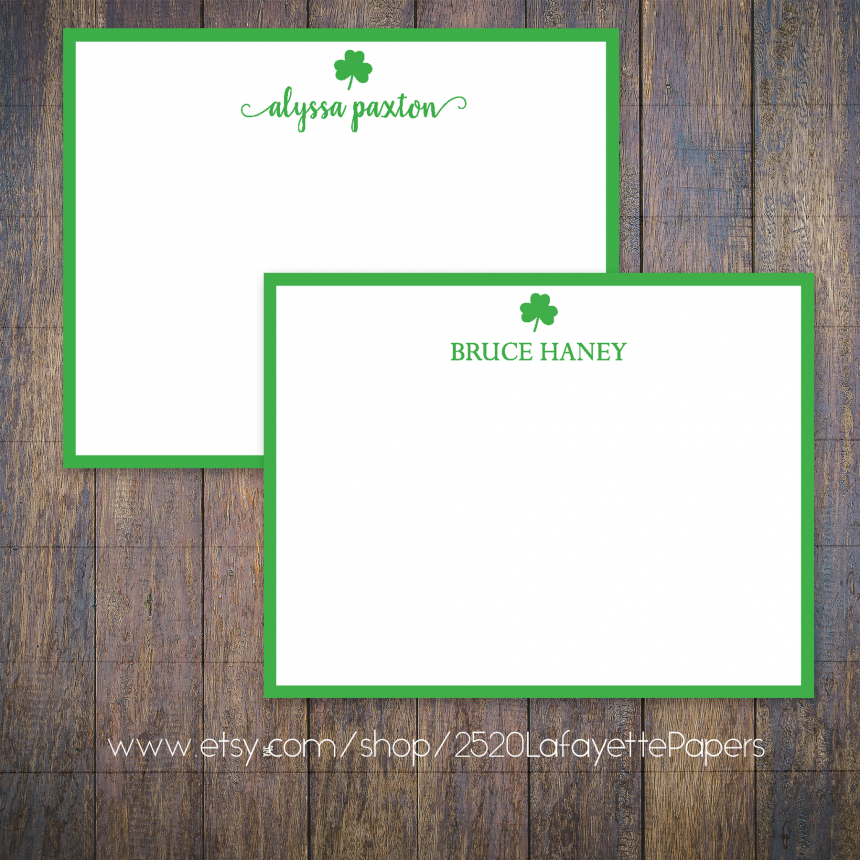 Shamrock Personalized Stationery