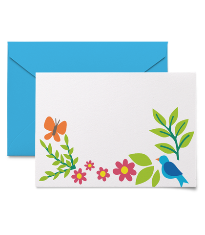 Bright floral gift enclosure cards
